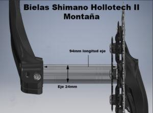 Bielas Shimano Hollotech II Montaña