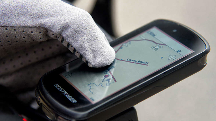 Bontrager Garmin Edge 1030 GPS pantalla con guantes