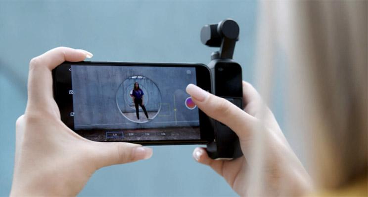 DJI Osmo Pocket vista desde móvil
