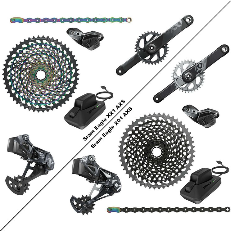 Sram Eagle AXS comparación XX1 vs X01