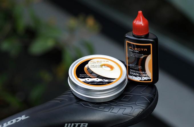 Flectr Lubri Disc lata metal aceite orgánico biodegradable