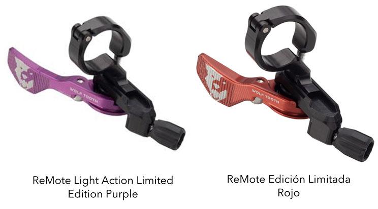Wolf Tooth Components Remote rojo y purpura edición limitada
